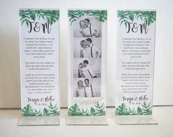 Photo Booth Card Strip Frame With Acrylic Frame Inserts