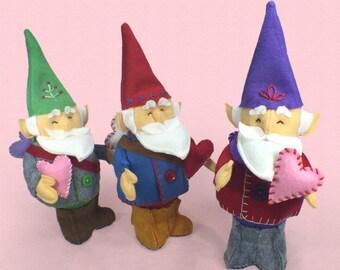 Gnome PDF Pattern, DIY Sewing, Valentine, Gnome Sewing Pattern, Valentine Gnome