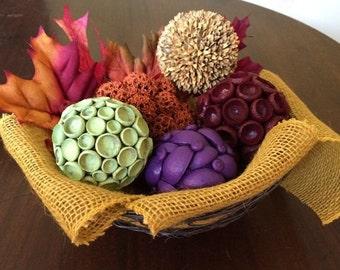 Fall Display of Decorative Balls