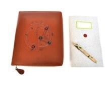 Vintage British Leather Case Tablet Reader Kindle writing case