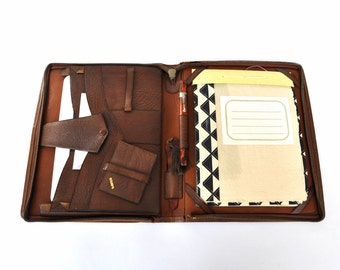 eReader iPad Kindle Vintage Writing Case with Handmade Notepad incl