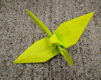 "100 6"" light green origami paper cranes wedding party decoration"