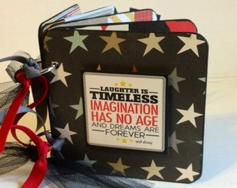 Disney mini album premade pages chipboard scrapbook Mickey Mouse Donald Duck vacation birthday