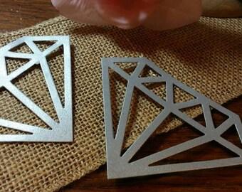 Gemstones Die Cut 10CT- Diamond Die Cut- Card Making- Scrapbooking- Die Cut- Cutout- Embellishment-,Custom Colors