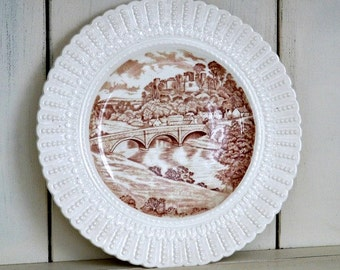 Royal Cauldon England Ludlow Castle & Dinham Bridge Vintage Plate
