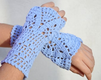Crochet fingerless gloves. Handmade gloves. Winter Accessories