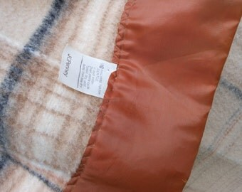 Acrylic Blanket JCP Penneys Muted Browns