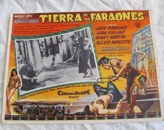 Vintage Spanish Mexican Movie Lobby Card Poster - Tierra de los Faraones - Land of the Pharohs