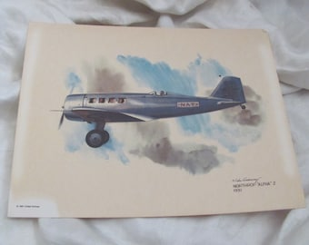 Vintage United Airlines Print Poster - Northrup Alpha 1931 - Galloway