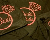 Bridal Party Ring Tanks,  Bachelorette Party Tanks, Customize to match any color theme. Wedding Party Tank tops.