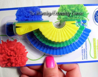 Pom Pom Makers - clever Tool for making pom-poms, set of 3 sizes 4cm, 5cm, 8cm PonPon maker pon pon, pon pom