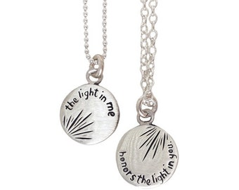 Light in Me Honors the Light in You Yoga Necklace