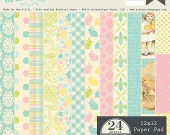 """Authentique Paper """"Springtime"""" Collection 12x12 Pad"""