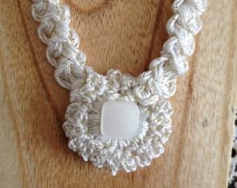 Crochet Necklace. Hand Crochet Accessories.Unigue Freeform Necklace.