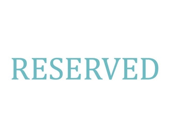 RESERVED - listing for emilylsant