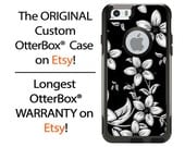 iPhone OtterBox Commuter Case for iPhone 6/6s, 6 Plus/6s Plus, 5/5s, 5c, 4/4s, Galaxy S6 S5 S4 Note 5 4 Custom Black metallic Flower Case