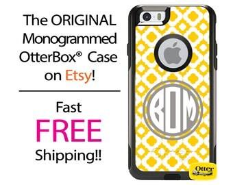 iPhone OtterBox Commuter Case for iPhone 7, 7 Plus, 6/6s, 6 Plus/6s Plus, 5/5s/SE, 5c Galaxy S7 S6 S5 Note 5 Monogrammed Delphi Lattice Case