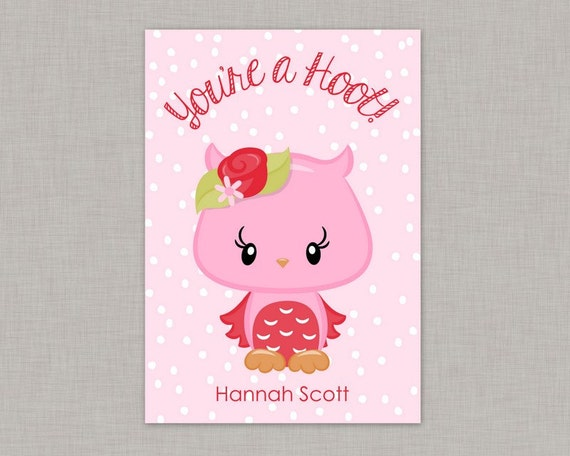 Valentine Classroom Cards Owl Valentine Card Classroom Valentine