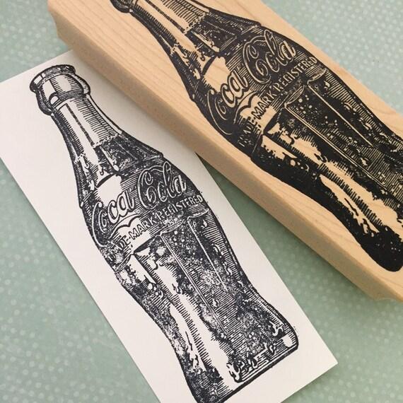 Big Bottle of Coke Rubber Stamp 618