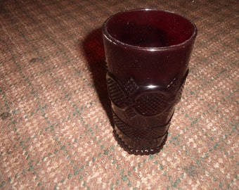vintage avon cape cod ruby red glass water tumbler