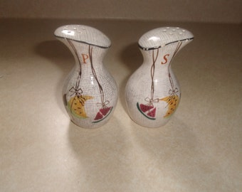 vintage salt pepper shakers set fruit watermelon