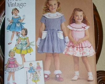 Simplicity Pattern 8062 Girls,  1950's Vintage, Girls Dress, Simplicity Archives, Sizes 4 to 8