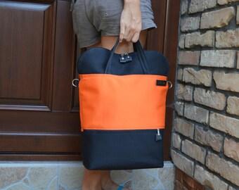 Unisex laptop backpack, functional convertible bag, Canvas tote crossbody bag, Weekender bag, School bag, Messenger macbook shoulder bag