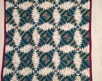 Vintage Handmade Geometric Quilt Kentucky
