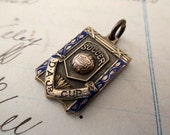 1930s gold filled charm- enameled, award, soccer, St Paul's United, D A Jr. Cup