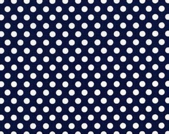 Michael Miller - Kiss Dot in Navy - By The Yard