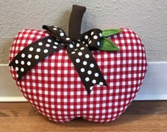 Apple pillow Red and White Check