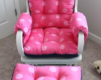 Custom Chair Cushions/ Glider Cushions/ Rocking Chair Cushions/ Glider Replacement Cushions/ Ottoman cushion/ Arm rests