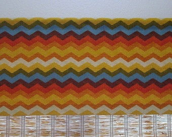 Waverly Curtain Valance Waverly Panama Kitchen Curtains Window Valance Chevron Valance 52x12  52x14  52x16  52x18