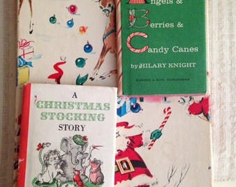 A Christmas Stocking Story Nutshell Book - by Hilary Knight, Published by Harper & Row, 1963