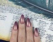 Helpless nail polish Hamilton Musical pink purple soft love Eliza