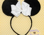 Mrs. Mouse Custom White Headband I Disney I Custom Ears I Ear Hat