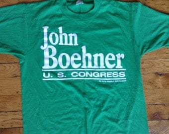 Set of 2 John Boehner fo US Congress t shirts 1990 USA Large