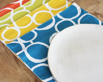 Cloth Placemats - One of each color  - Set of 4