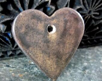 Bronze Ceramic Heart Pendant
