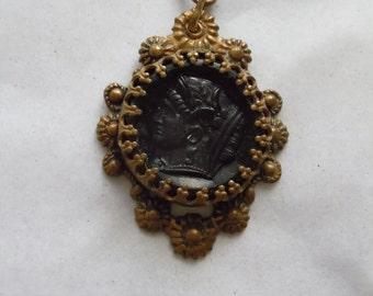 Vintage Goddess Head Pendant