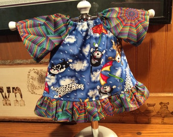 """Waldorf doll clothes for 15-18""""...Raining Cats and Dogs"""