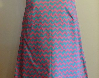 Japanese Cotton Wave Fabric, Sleeveless Dress, One piece,