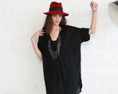Valentines day Black Pocket Dress- Black Knee Length Summer Dress