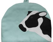 Cow Large teapot tea cosy in light blue