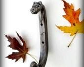 FORGED CAT HOOK  Hand Forged by Blacksmith Naz - Metal Cat - Sculpture - Tiger - Hooks - Feline - Large & Strong - Ironwork  Unique Original