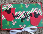 Disney Christmas Gift Card Holder - Mickey Mouse Ears - Peppermint - Be Jolly