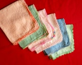 Set of Six Lace Edged Hankies