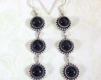 Sterling Silver Punky Extra Dangly Earrings