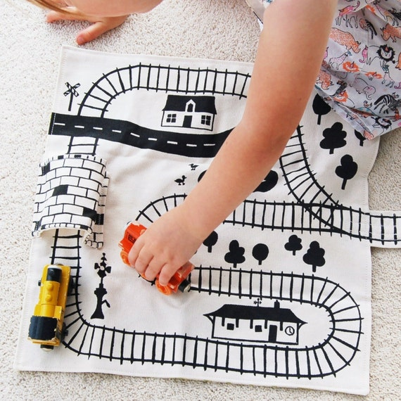 Train Playmat, Thomas the Train Playmat, Train Track, Train Storage, Travel Train Toy, Imaginative Play Boys Birthday Gift Toddler Train Mat