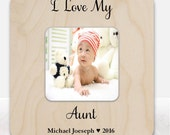 Gift for aunt frame I love my aunt personalized frame for aunt new baby gift